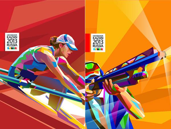 大运会志愿者标志设计-2013年喀山大运会会徽和志愿者标志