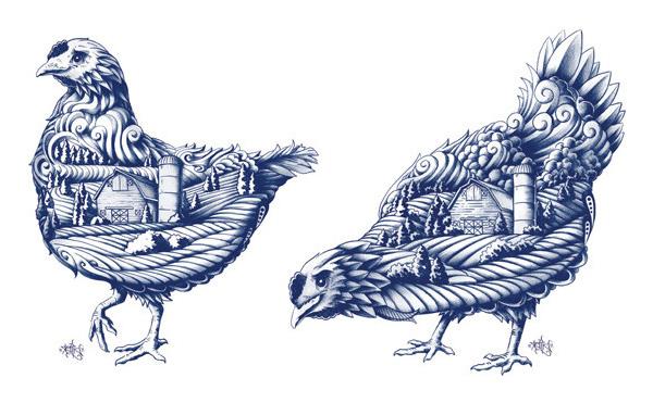 加拿大蓝鹅有机农场品牌形象设计