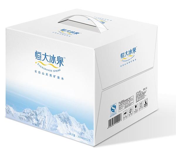 阿尔卑斯山矿泉水_恒大冰泉LOGO及包装形象-新品牌-汇聚最新品牌设计资讯
