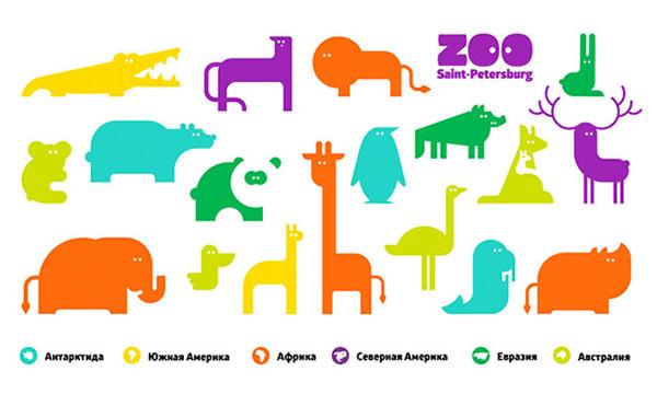 圣彼得堡的新动物园形象设计